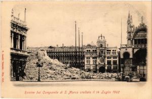 CPA Venezia Rovine del Campanile di S. Marco. ITALY (525141)
