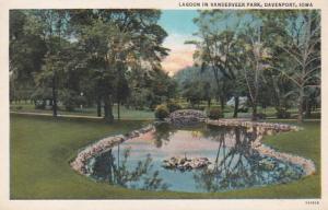 Iowa Davenport Lagoon In Vanderveer Park Curteich