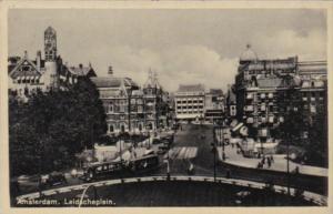 Netherlands Amsterdam Trolley Street Scene Leidscheplein