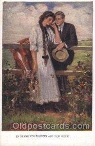 Artist Signed Clarence Underwood Nr. 834 C, M.Munk, Wien Unused