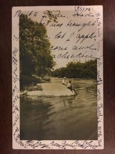 1906 Boys Fishing Favorite Spot Along the Brandywine, Delware d19