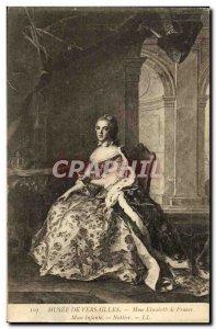 Old Postcard Musee De Versailles in France Ms Elisabeth Infante Nattier