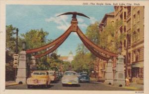 Utah Salt Lake City The Eagle Gate Curteich