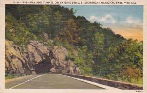 Highway And Tunnel On Skyline Drive Shenandoah National Park Virginia