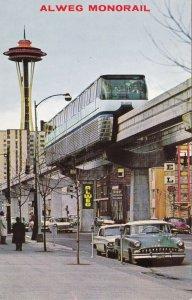 Washington Seattle Alweg Monorail & Downtown Scene sk5503