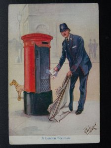 Postal Theme A LONDON POSTMAN Artist F. Gilson - Old Postcard by E.J. Hey & Co.