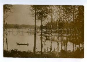 235389 FINLAND Savonlinna FISHING Vintage photo postcard