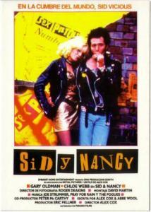 Postcard of Sid and Nancy Sex Pistols Movie Spanish