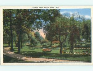 Unused Linen LEEPER PARK South Bend Indiana IN v3451