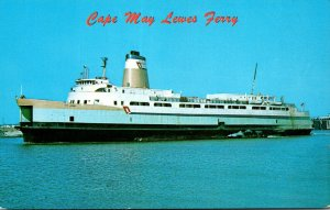 New Jersey Cape May Ferry Lewes Dela