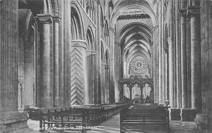 Durham Cathedral, Nave East, Interior 1908