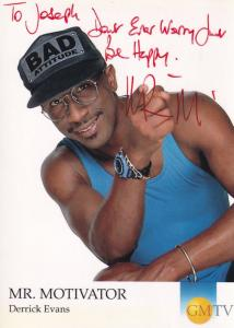Mr Motivator Derrick Evans Jamaica GMTV Hand Signed Cast Card Photo