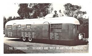 Los Angeles CA Airstream Trailers THe Comodore Land Liner RPPC Postcard