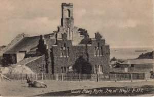 (ak58) Quarr Abbey Ryde Martins Library Shanklin - Isle of Wight Postcard