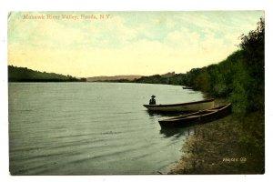 NY - Fonda. Mohawk River Valley Scene