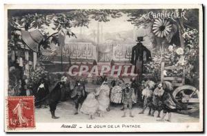 Old Postcard Edmond Rostand Chantecler Day guinea fowl