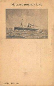 LP59  Ship Vintage Postcard Holland America Line