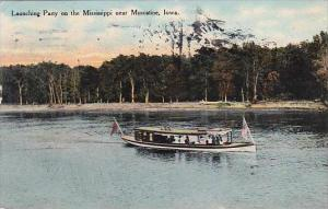 Iowa Muscatine Launching Party On The Mississippi