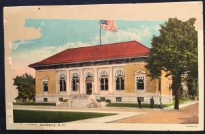 Postcard Used w/Fault Post Office Newberry SC LB