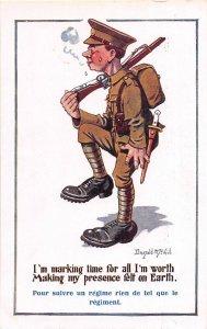 F92/ Artist Signed Postcard c1910 Donald McGill Comic Military Rifle 12