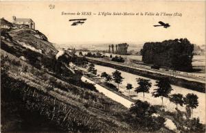 CPA  Environs de Sens - L'Eglise Saint-Martin et la Vallée de l'Yonne  (656842)