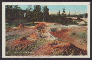 Paint Pots at the Thumb,Yellowstone Postcard