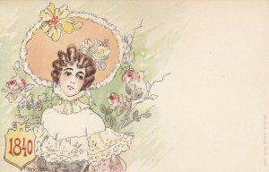 Jacques dit Jack ABEILLÉ : Art Nouveau Female Head Portrait , 1898 #2/6