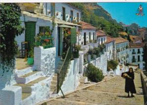 Spain Malaga Gibralfaro Street Scene