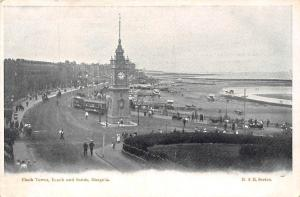 Margate, Clock Tower, Beach and Sands, Kent, trams, animated panorama
