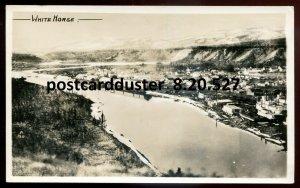 527 - WHITE HORSE Yukon 1950s Birds Eye View. Real Photo Postcard