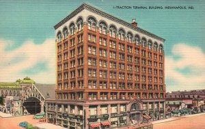 Indianapolis, Indiana, IN, Traction Terminal Building, Vintage Postcard h1798