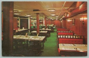 Oneonta New York~Bresee's New Health Bar Restaurant~Dining Room~Red Booths~1950s