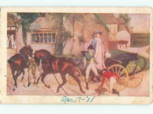 Divided-Back HORSE SCENE Great Postcard AA9437