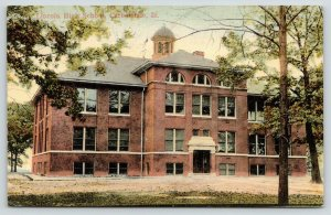 Carbondale Illinois~Lincoln High School~Dirt Road and Path~1907 Handcolored PC