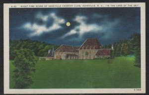 North Carolina colour Night view Asheville Country Club unused