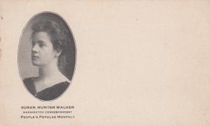 Washington D.C. , 1901-07 ; Correspondent Susan Walker for Peoples Monthly
