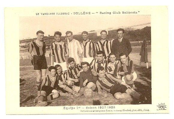 Football Soccer Racing Blondel Bollene 1927-8 Team  postcard France