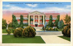 MS - Hattiesburg. Mississippi Woman's College, Administration Building