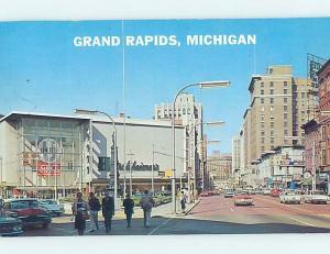 Pre-1980 SHOPS ALONG THE STREET Grand Rapids Michigan MI F0946