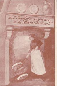 A l'Omelette renommee de la Mere Poulaed, Woman cooking at a chimney, Break...