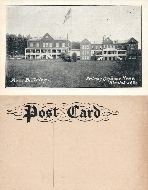 WOMELSDORF PA BETHANY ORPHANS HOME MAIN BUILDING ANTIQUE POSTCARD