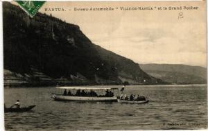 CPA NANTUA Bateau Automobile Ville de NANTUA et le GrandRocher (683956)