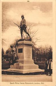 Canada Ont. London, South Africa Heros Monument, Statue 1914
