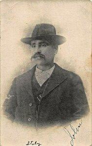 ITALIAN MAN NAMED JOHN~UNIDENTIFIED~1910s REAL PHOTO POSTCARD
