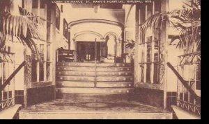 Wisconsin Wausau Lobby Entrance St Marys Hospital Artvue