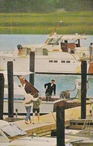 HILTON HEAD ISLAND, South Carolina, 1940-1960´s; The Palmetto Bay Marina, Se...