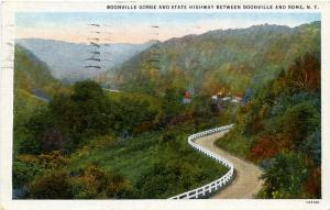 Boonville Gorge & State Highway Between Boonville & Rome NY New York pm 1938 WB