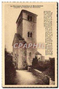 Postcard Old Chapel of the Chateau de Pierreclos