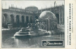 The 13th Lobor of Hercules Male Nudes Exposition Panama - Pacifico postcard