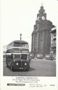 Lancashire Transport Postcard - Buses - A.E.C. Regent 111 No.A5 Bus -  V2249